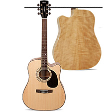 גיטרה אקוסטית מוגברת CORT AD880MRCE Flamed Meranti