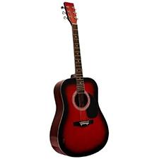 גיטרה אקוסטית אדומה Alberto Manchini