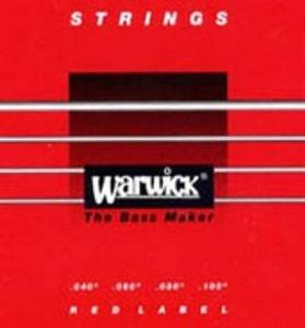 סט מיתרים לגיטרה בס וורוויק אדום 40/100