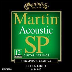 סט מיתרים 0.10 לגיטרה אקוסטית 12 מיתרים MARTIN SP