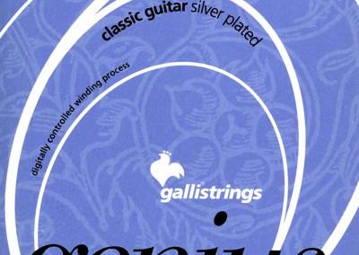 סט מיתרים לגיטרה קלאסית GALLI GR60 HARD