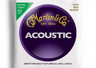 סט מיתרים לאקוסטית 0.10 מרטין MARTIN M170
