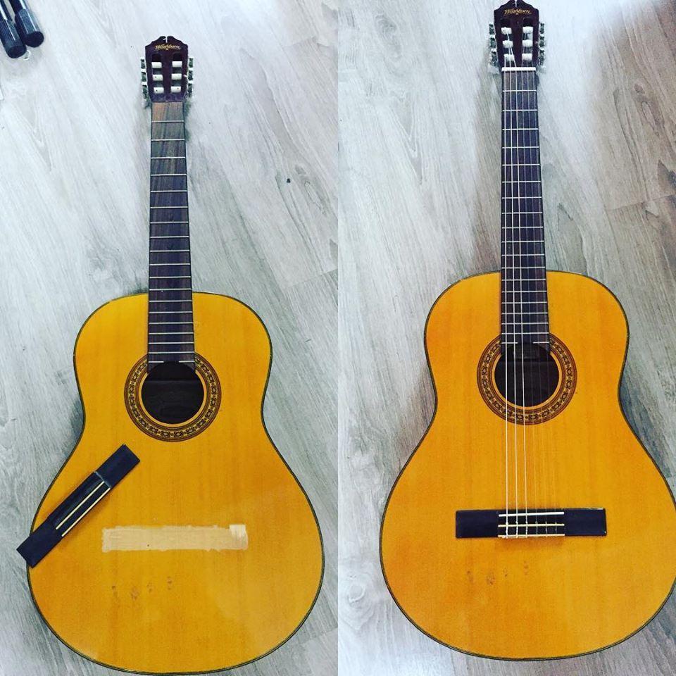 תיקון מחזיק מיתרים של גיטרה
